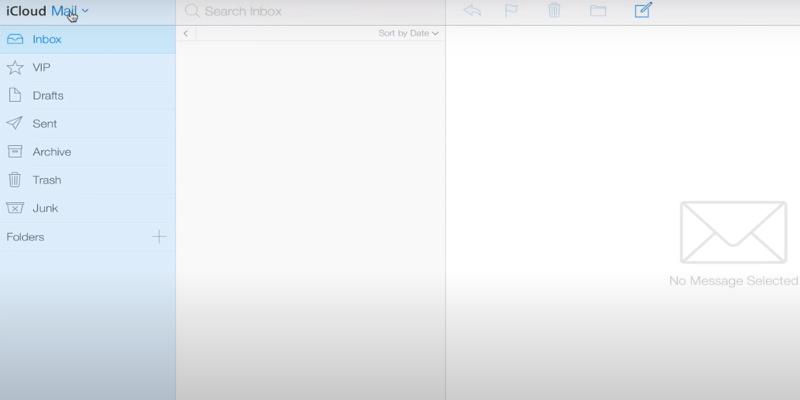 Inicio de sesión de iCloud Mail en macOS