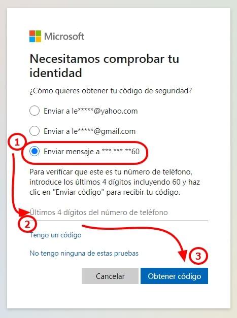 código telefónico hotmail