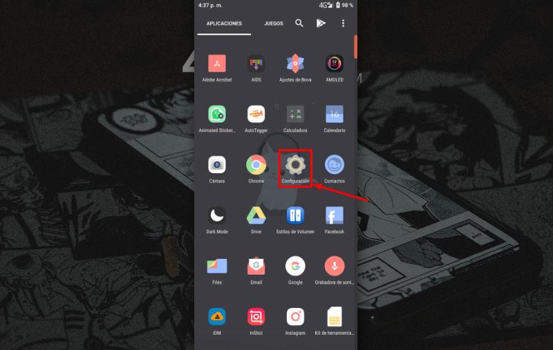 Agregar una cuenta Gmail en un teléfono Android