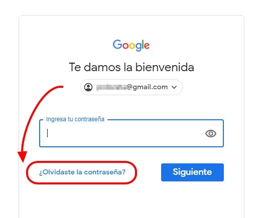recuperar clave gmail