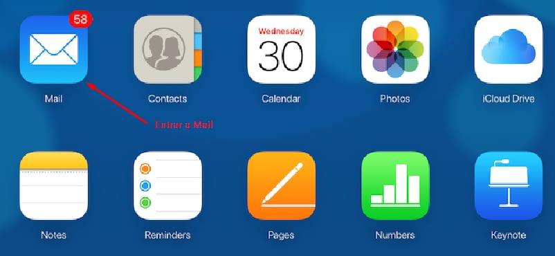 Seleccionar Mail en iCloud desde Windows