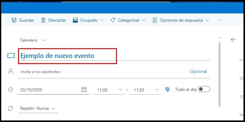 el calendario de Hotmail