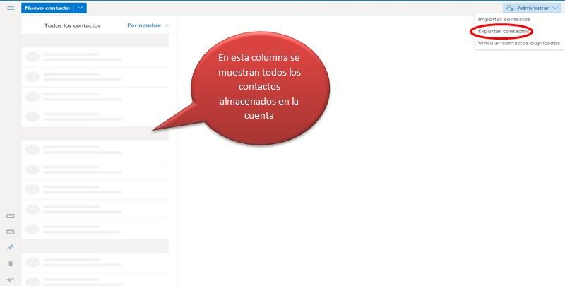 Exportar los contactos de Hotmail para usarlos con otro proveedor
