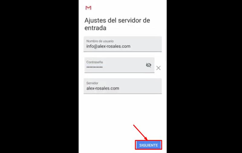 Realizar las configuraciones del correo Gmail