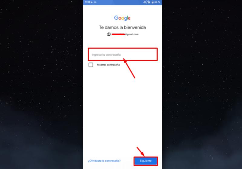 Agregar la cuenta Gmail a configurar