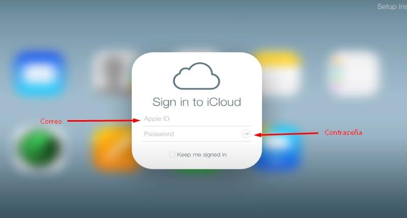 Datos para iniciar sesión en macOS