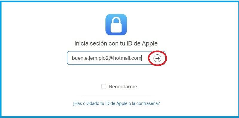 Borrar cuenta iCloud Mail