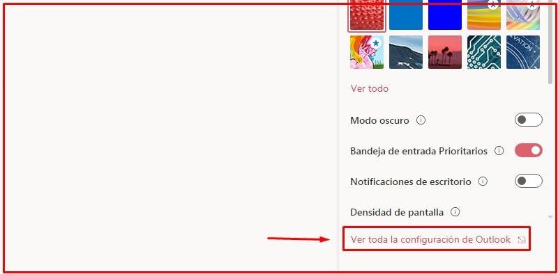Cambiar el diseño de la bandeja de entrada en Outlook