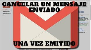 Cancelar envío correo emitido